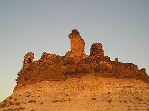 Shmemis - A view of Shmemis castle at sunset