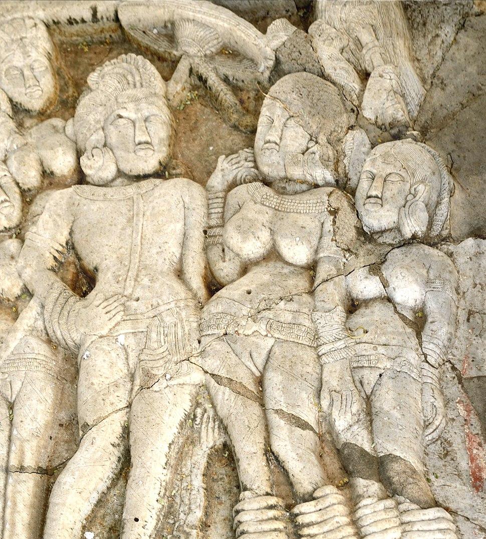 Ashoka with his Queens at Sannati-Kanaganahalli Stupa