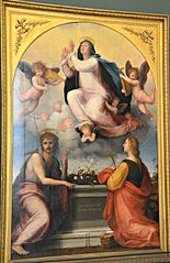 Assumption of the Virgin with St. John the Baptist and St. Catherine of Alexandria