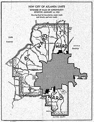 Atlanta annexations and wards - 1952 annexation