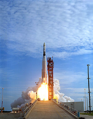 Gemini 11 - An Atlas launch vehicle launches GATV-5006 into orbit for the Gemini 11 mission.
