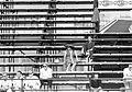 Auditorium, pitch, straw hat, shades, camera, ad, men, woman, summer, free time Fortepan 19393.jpg