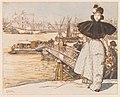 Auguste Louis Lepère - Pier on the Garonne, Bordeaux (Embarcadère sur la Garonne, Bordeaux) - 2016.212 - Cleveland Museum of Art.jpg