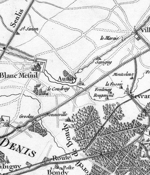 Carte Grise Aulnay Sous Bois - Fichier Aulnay sous Bois, carte de Cassini jpg u2014 Wikipédia