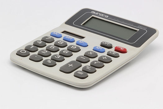 Aurora electronic calculator DT210 01.jpg