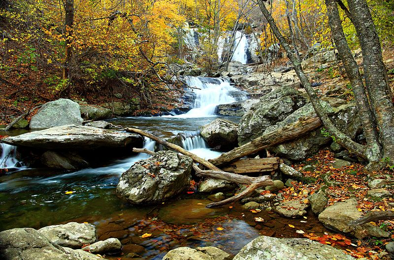 File:Autumn-clear-water-waterfall-landscape - Virginia - ForestWander.jpg