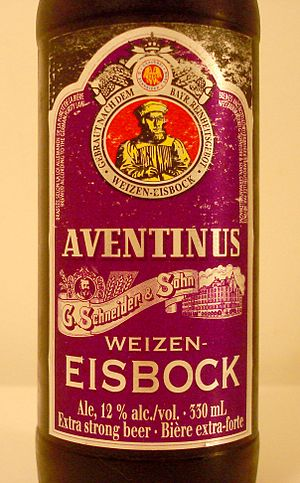 Bock - Eisbock beer, made by removing ice from partially frozen barrels of beer, resulting in higher alcohol content.