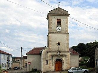 Avillers, Vosges - The church in Avillers