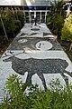 Ax - Résidence des thermes de Jean Nouvel - Parvis d'entrée - mosaïque en noir et blanc par Danielle Justes.jpg