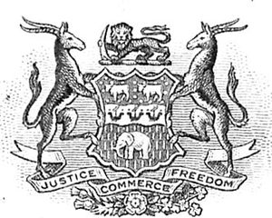 Chartered company - The arms of the British South Africa Company.