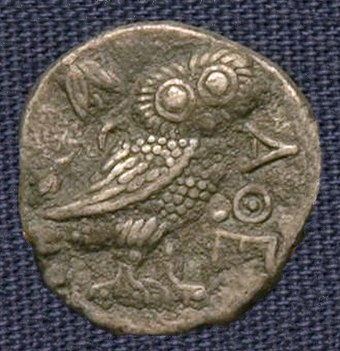 Pre-Seleucid Athenian owl imitation from Bactria, possibly from the time of Sophytes.