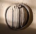 Badia tedalda, san michele, interno 03 stemma di ugo di toscana della badia fiorentina.jpg