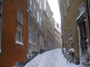 Baggensgatan - Baggensgatan in winter.
