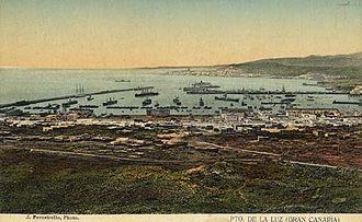 Port of Las Palmas - Las Palmas Port in 1912