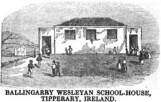 Ballingarry, South Tipperary - Image: Ballingarry Wesleyan School House, Tipperary, Ireland (p.72, 1849) Copy