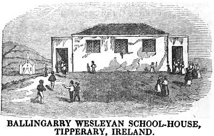 Ballingarry Wesleyan School-House, Tipperary, Ireland (p.72, 1849)[1]