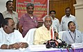 Bandaru Dattatreya addressing the Media after concluding the Southern Regional Conference of the State Labour MinistersPrincipal SecretariesSecretaries, Department of Labour, in Hyderabad on June 27, 2015.jpg