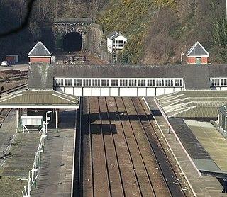 Bangor railway station (Wales) Railway station in Gwynedd, Wales