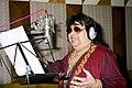 Bappi Lahiri at the recording.jpg
