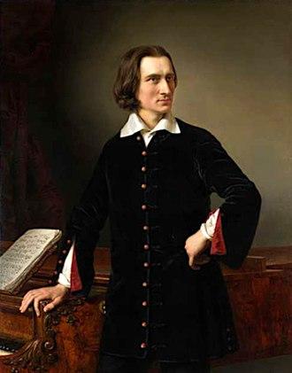 Franz Liszt - Franz Liszt, portrait by Hungarian painter Miklós Barabás, 1847