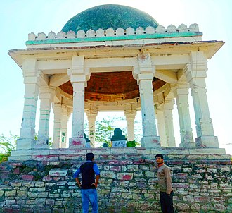 Chhatri - Barah Khamba Chhatri at Jalsen Talab in Hindaun city of Karauli District