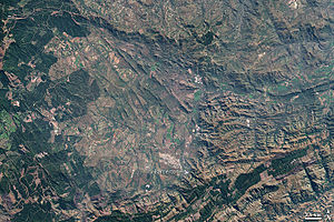 Barberton, Mpumalanga - The Barberton Mountain Range, 2001 image from NASA's Landsat 7 satellite