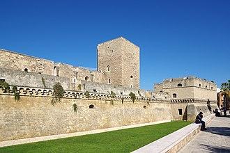 Castello Normanno-Svevo (Bari) - Western ramparts of the castle