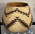 Basket, Hupa people, Southern California, late 19th to early 20th century, twined tule root and bear grass - Chazen Museum of Art - DSC01863.JPG