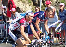 Tour 2004: Ivan Basso (a sinistra) a fianco di Lance Armstrong.