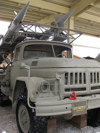 S-125 Neva/Pechora - S-125 on ZIL-131 transporter vehicle (9T911), Batey Ha-Osef Museum