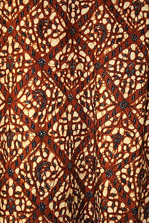 Resist dyeing - Indonesian batik fabric