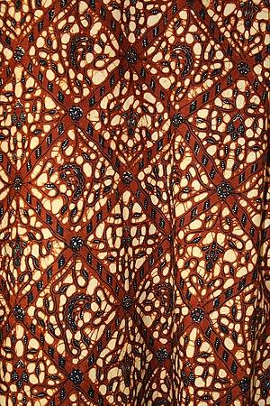 Resist dyeing - Indonesian batik fabric
