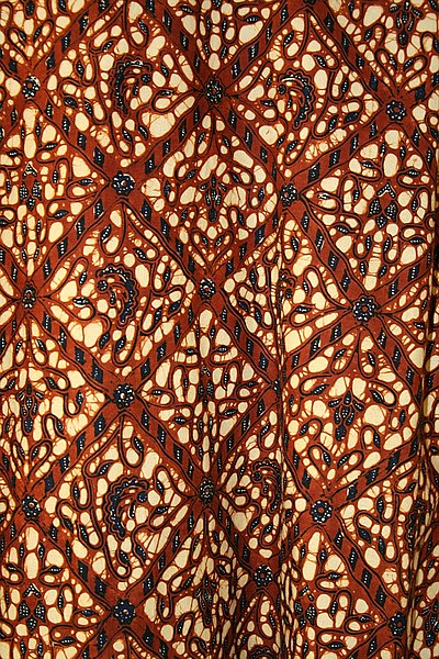 Indonesian batik fabric