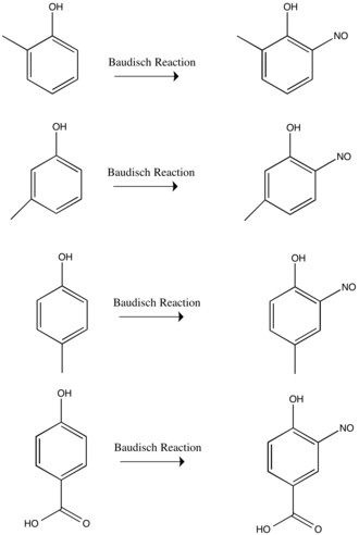 Baudisch reaction - Image: Baudisch Reaction with substituents