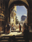 Bauernfeind, Gustav - At the Entrance to the Temple Mount, Jerusalem - 1886.png