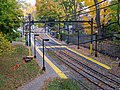 Beaconsfield station from Dean Road steps, November 2015.JPG