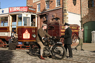 Beamish Museum - Reenactors creating a period street scene at the museum