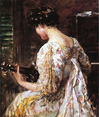 James Carroll Beckwith - Image: Beckwith James Carroll Woman with Guitar