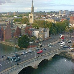 Bedford - St.Paul's Church and Town Bridge - geograph.org.uk - 304389.jpg