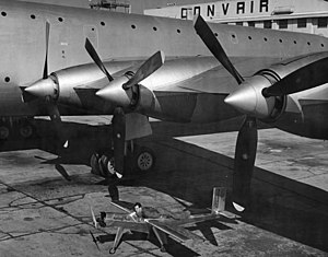 Convair XC-99 - The XC-99 with the Beecraft Wee Bee, billed as the world's smallest aircraft