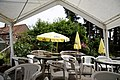 Beer garden gazebo at Staplefield, West Sussex, England.jpg