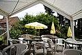 Beer garden gazebo at Staplefield, West Sussex, England.jpg