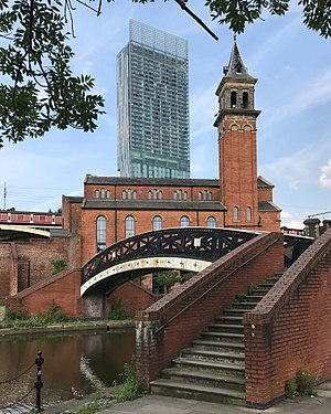 Beetham Tower seen from Castlefield