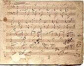 Page manuscrite de la trentième Sonate (1820)