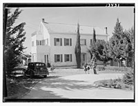 Beirut, Junior Girls' College, principal's house, Rev. & Mrs. W. Stoltzfus & Lawrun (?), daughter LOC matpc.12790.jpg