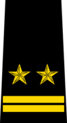 Belarus Police—05 Lieutenant Colonel rank insignia (Black).png