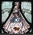 """Belfast St George's Church Window W08 """"And when he saw him, he had compassion on him"""" Detail Coat of Arms of Sir Robert Hugh Hanley Baird 2018 08 24.jpg"""