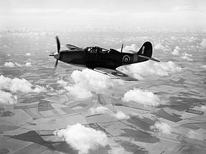 Bell Airacobra Mk I of No. 601 Squadron RAF based at Duxford, Cambridgeshire, 21 August 1941. CH3711.jpg