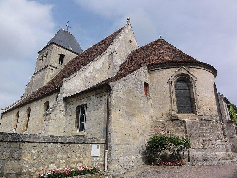 Berny-Rivière (Aisne) Église, le chevet