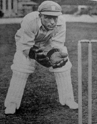 Bert Oldfield - Bert Oldfield wicketkeeping